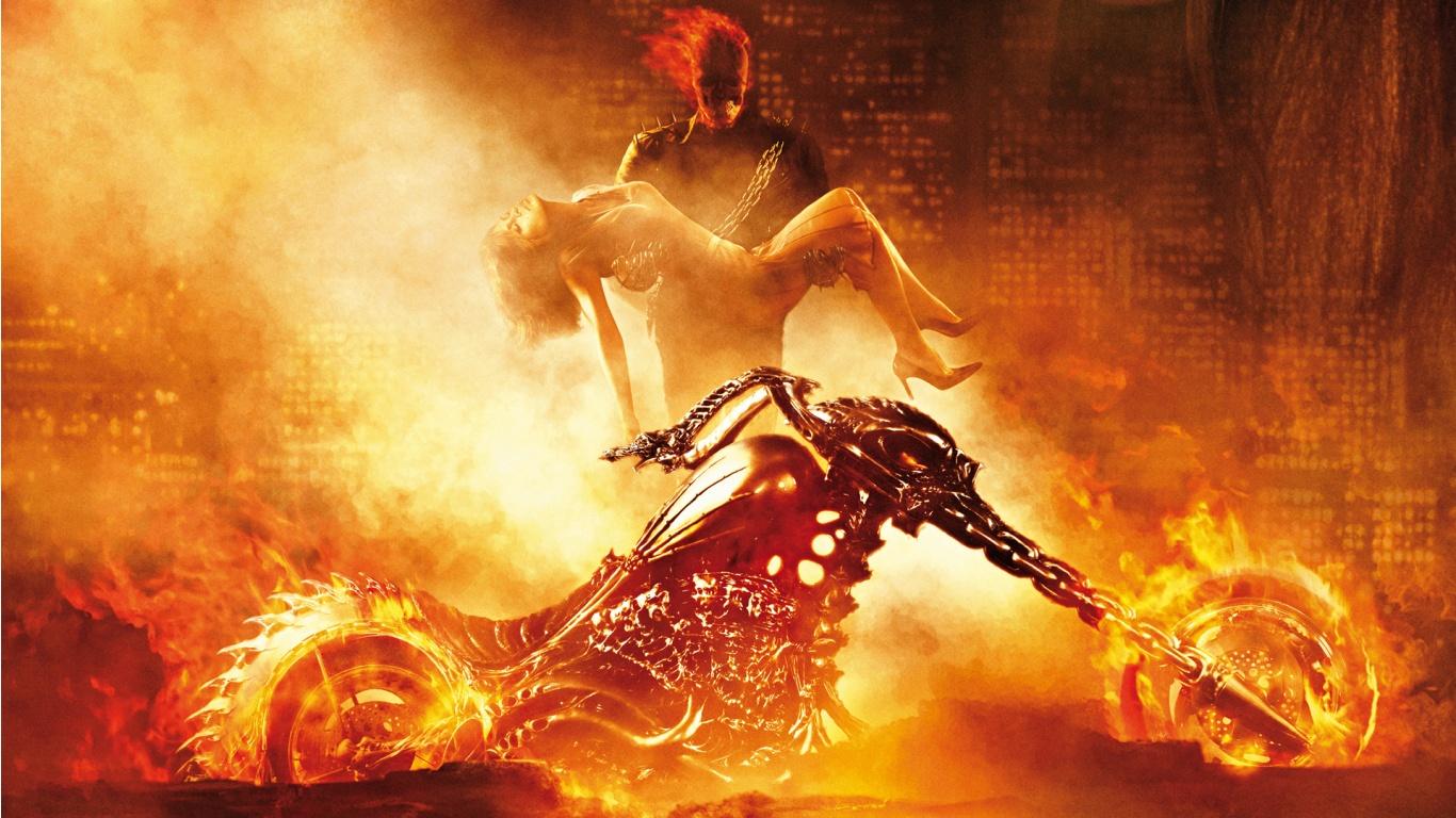 Good Wallpaper Horse Ghost Rider - ghostrider-1366x768  2018_754815.jpg